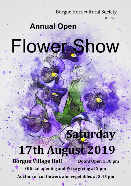 Borgue Flower Show Poster